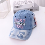 MZ9514 Embroidered Letters Cowboy Children Baseball Cap, Size: 52cm Adjustable(Pink Letters)