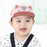 C0361 Spring Kitten Shape Baby Peaked Cap, Size: 46cm Adjustable(Pink)
