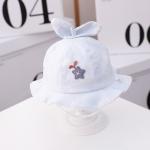 MZ9828 Star Grass Pattern Newborn Basin Hat Baby Cotton Hat Fisherman Hat, Size: Around 42cm(Light Blue)