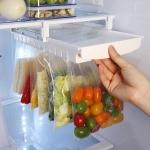 Refrigerator Fresh-Keeping Bag Track Storage Rack Sealed Bag Telescopic Household Storage Rack