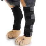 Pet Knee Pads Dog Leg Guards Pet Protective Gear Surgery Injury Sheath, Size: L(HJ01 Classic Black)