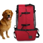 Ventilated And Breathable Washable Pet Portable Backpack, Size: L(Red)