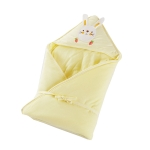 85×85 120g Baby Cotton Soft Swaddling Quilt Thickness Optional(Yellow)