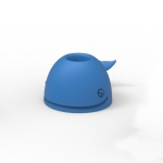 3 PCS Silicone Whale Toothbrush Holder Desktop Office Pen Holder(Dark Blue)