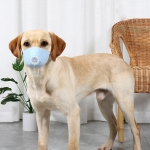 3 PCS Dog Dust And Haze Respirator Mask Pet Protective Mouth Cover, Specification:M(Light Blue)