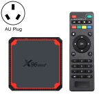 X96 mini+ 4K Smart TV BOX Android 9.0 Media Player wtih Remote Control, Amlogic S905W4 Quad Core ARM Cortex A53 up to 1.2GHz, RAM: 2GB, ROM: 16GB, 2.4G/5G WiFi, HDMI, TF Card, RJ45, AU Plug