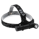 YWXLight 700LM Head-mounted Aluminum Alloy USB Rechargeable Strong Head Lamp Outdoor Camping Night Fishing Flashlight (Flashlight+Belt+USB+Battery)