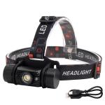 YWXLight LED Induction Headlight USB Charging Outdoor Waterproof Strong Light Fishing Aluminum Flashlight Headlight (Headlight+2xBatteries)