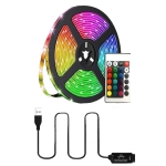 YWXLight SMD 5050 RGB TV Backlight USB LED Strip Lights with Remote Control