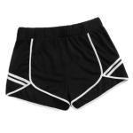 Women Plus Size Casual Sports Shorts (Color:Black Size:XL)