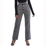 Women Fashion Casual Denim Pants Jeans (Color:Grey Size:L)