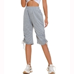 Women Fashion Loose High Waist Casual Pants (Color:Grey Size:S)