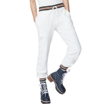 Women High Waist Loose Sport Casual Trousers Pants (Color:White Size:XL)