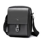 WEIXIER 8643 Men Business Casual PU Leather Handbag Crossbody Bag (Black)