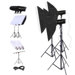 TRIOPO Oubao TTR300W 60x90cm Studio Softbox + 2.8m Tripod Mount + 3x E27 150W Light Bulb Photography Lighting Set