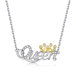 S925 Sterling Silver Queen Zircon Women Nacklace Jewelry