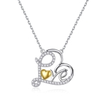 S925 Sterling Silver True love Is Supreme Heart Women Nacklace Jewelry