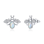 S925 Sterling Silver Little Bee Women Earrings