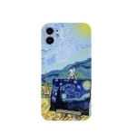 Colored Drawing Pattern Fine Hole IMD Shockproof TPU Protective Case For iPhone 12(Rural)