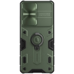 For Samsung Galaxy S21 Ultra 5G NILLKIN Shockproof CamShield Armor Protective Case with Invisible Ring Holder(Green)
