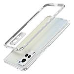 For vivo X60 Pro Aurora Series Lens Protector + Metal Frame Protective Case(Silver)