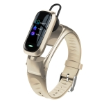 B9 0.96 inch TFT Color Screen AI Voice Smart Bracelet, Support Reject Call / Sleep Monitoring / Heart Rate Monitoring(Gold)