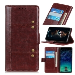 For Samsung Galaxy A72 5G Peas Crazy Horse Texture Horizontal Flip Leather Case with Holder & Card Slots & Wallet(Brown)
