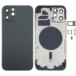Back Housing Cover with SIM Card Tray & Side  Keys & Camera Lens for iPhone 12 Pro(Black)