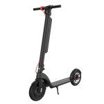 [US Warehouse] X8 Outdoor Waterproof Foldable Electric Scooter with 10 inch Vacuum Tires & LCD Display & LED Lights & 10AH Lithium Battery, Load-bearing: 20-100kg (Black)