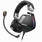 Original Lenovo H402 USB Interface 7.1 Channel Active Noise Reduction Wired Gaming Headset with Colorful RGB Light & Detachable Microphone, Cable Length: 2.2m (Black)