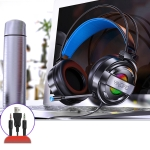 YINDIAO Q3 USB + Dual 3.5mm Wired E-sports Gaming Headset with Mic & RGB Light, Cable Length: 1.67m(Black)