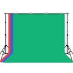 PULUZ 2x3m Photo Studio Background Support Stand Backdrop Crossbar Bracket Kit with 3 x Backdrops