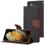 For Samsung Galaxy S21 5G GOOSPERY FANCY DIARY Horizontal Flip PU Leather Case with Holder & Card Slots & Wallet (Black)