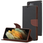 For Samsung Galaxy S21 Ultra 5G GOOSPERY FANCY DIARY Horizontal Flip PU Leather Case with Holder & Card Slots & Wallet (Black)
