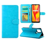 For OPPO Realme V3 Crazy Horse Texture Leather Horizontal Flip Protective Case with Holder & Card Slots & Wallet & Photo Frame(Baby Blue)