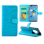 For Huawei Mate40 Pro/Mate40 Pro+ Crazy Horse Texture Leather Horizontal Flip Protective Case with Holder & Card Slots & Wallet & Photo Frame(Baby Blue)