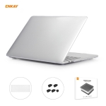 ENKAY 3 in 1 Crystal Laptop Protective Case + US Version TPU Keyboard Film + Anti-dust Plugs Set for MacBook Pro 15.4 inch A1707 & A1990 (with Touch Bar)(Transparent)