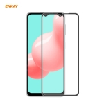 For Samsung Galaxy A32 / M12 / A12 ENKAY Hat-Prince Anti-drop Full Glue Tempered Glass Full Screen Film Anti-fall Protector