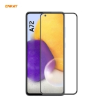 For Samsung Galaxy A72 4G / 5G ENKAY Hat-Prince Anti-drop Full Glue Tempered Glass Full Screen Film Anti-fall Protector