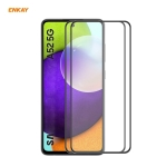 For Samsung Galaxy A52 4G / 5G 2 PCS ENKAY Hat-Prince Anti-drop Full Glue Tempered Glass Full Screen Film Anti-fall Protector