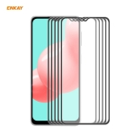 For Samsung Galaxy A32 / M12 / A12 5 PCS ENKAY Hat-Prince Anti-drop Full Glue Tempered Glass Full Screen Film Anti-fall Protector