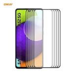 For Samsung Galaxy A52 4G / 5G 5 PCS ENKAY Hat-Prince Anti-drop Full Glue Tempered Glass Full Screen Film Anti-fall Protector