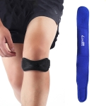 Landers 2 PCS Patella Belt Compression Belt Running And Riding Sports Knee Pads for Men and Women(Blue )
