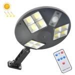 144 COB Solar Human Body Sensor Street Light Garden Wall Light with Remote Control Outdoor Security Light