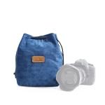 S.C.COTTON Liner Shockproof Digital Protection Portable SLR Lens Bag Micro Single Camera Bag Square Blue L