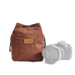 S.C.COTTON Liner Shockproof Digital Protection Portable SLR Lens Bag Micro Single Camera Bag Square Brown L