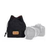 S.C.COTTON Liner Shockproof Digital Protection Portable SLR Lens Bag Micro Single Camera Bag Square Black L