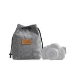 S.C.COTTON Liner Shockproof Digital Protection Portable SLR Lens Bag Micro Single Camera Bag Square Gray M
