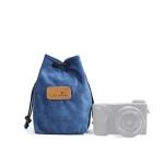S.C.COTTON Liner Shockproof Digital Protection Portable SLR Lens Bag Micro Single Camera Bag Square Blue S