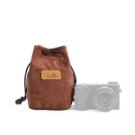 S.C.COTTON Liner Shockproof Digital Protection Portable SLR Lens Bag Micro Single Camera Bag Square Brown S